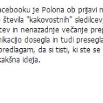 Matej Špehar je ocenil mojo Facebook stran