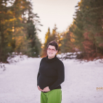 Nosečka Pina – zimsko fotografiranje trebuščka